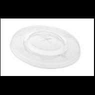 Pohár tető, lapos, PLA, 3-5 dl poharakhoz, szívószálnyílással | 22 Ft, 2000db