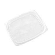 Lebomló PLA-doboztető, PLA, 2,3-4,5dl dobozhoz, szögletes , 450db