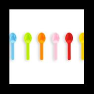 Lebomló fagyis kanál, PLA fagylaltos kanál, 7,6 cm, Tutti Frutti | 13 Ft/db, 2000db