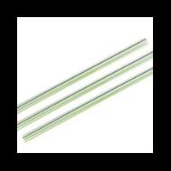 Lebomló szívószál PLA-ból, 10 mm, zöld csíkos, 1920 db | 34 Ft/db, 1920db