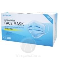 Maszk (Alchemy) - higiénikus 3 rétegű maszk, alumínium orrmerevítővel (minimum rendelési mennyiség 3 db)