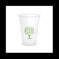 PLA pohár, standard, Green Tree, 4,5 dl, hideg italokhoz | 68 Ft/db, 1000db