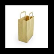 Papírtáska, 3,6 l, újrahasznosított, lebomló, kicsi | 41 Ft/db, 500db