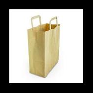 Papírtáska, 6 l, újrahasznosított, lebomló, közepes | 49 Ft/db, 250db