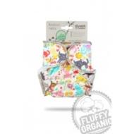 Petit Lulu újszülött patentos nadrágpelenka belső - cicák a réten