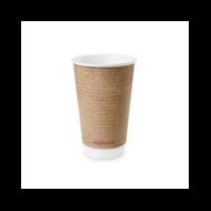 Teás pohár, 4,5 dl, dupla falú, barna | 91 Ft/db, 400db