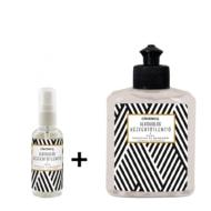 Cleaneco háztartási alkoholos kézfertőtlenítő folyadék virucid mini csomag • 50ml + 250ml