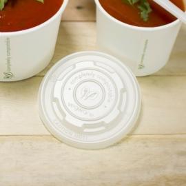 CPLA-tető, 90 mm, lapos, 1,8-2,8 dl levestartókhoz meleg ételhez , 1000db