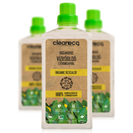 Cleaneco Háztartási Organikus Vízkőoldó citromsavval 1L - komposztálható csomagolásban