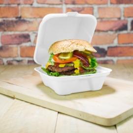 Elviteles doboz, hamburgeres, 15 cm, erős falú, lebomló cukornád , 500db