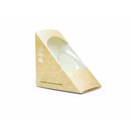 Háromszög szendvicsdoboz, lebomló, három szendvicshez 85mm , 500db