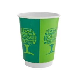 Kávés pohár, 2,3 dl, dupla falú, lebomló, Green Tree , 500db