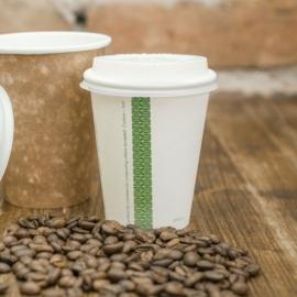 Kávés pohár, 2,3 dl, lebomló , 1000db