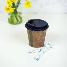 Kávés pohár, 2,8 dl, lebomló, barna , 1000db
