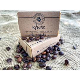 Kávés háziszappan (kézzel készített) 100% természetes
