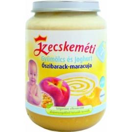 Kecskeméti Őszibarack-maracuja joghurttal 190g bébiétel (min. rendelés 3db)