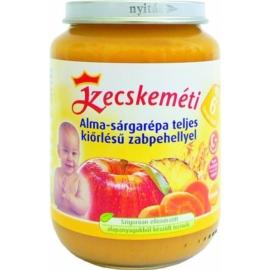 Kecskeméti Alma-sárgarépa teljes kiőrlésű zabpehellyel 190g bébiétel (min. rendelés 3db)