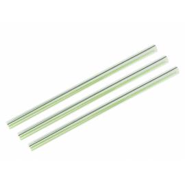 Lebomló szívószál PLA-ból, 10 mm, zöld csíkos, 960db
