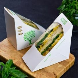65 mm standard szendvicsdoboz két szendvicshez -  Green Tree, 500db