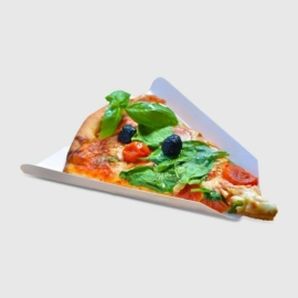 Papírtálca pizzaszelethez, lebomló , 1000db