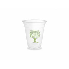PLA pohár, standard, Green Tree, 3,4 dl, lebomló, hideg italokhoz , 500db