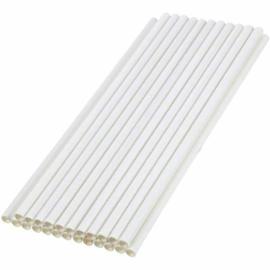 Papír szívószál, 6x200 mm, fehér , 1000db