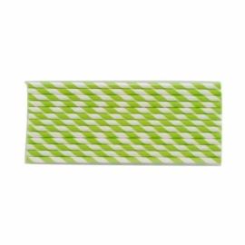 Papír szívószál, 6x200 mm, zöld , 1000db