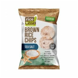 Rice Up Telj.kiőrl.barna rizs chips 60g tengeri sós (GLM)
