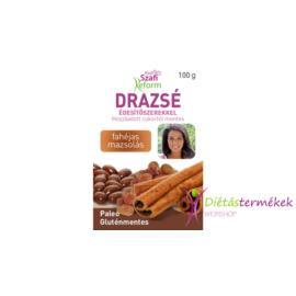 Szafi reform fahéjas mazsolás drazsé kakaós bevonattal, édesítőszerekkel (gluténmentes, paleo) 100 g
