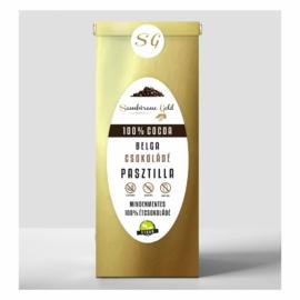 100% kakaótartalmú prémium belga étcsokoládé pasztilla (250g)