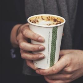 Teás pohár, lebomló, 3,4 dl , 1000db