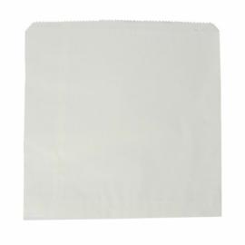 Zacskó, újrahasznosított, fehér , 500db