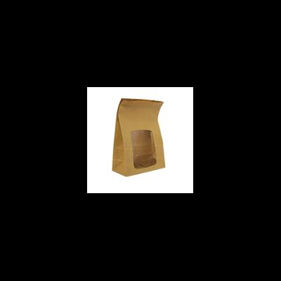 Étel elviteles zacskó, lebomló, ablakos, álló   96 Ft/db, 250db