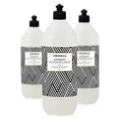 Cleaneco háztartási alkoholos kézfertőtlenítő gél virucid • 1l • sportkupakkal