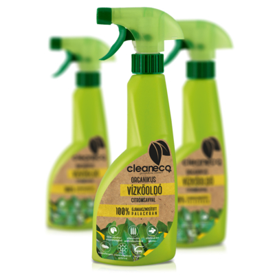 Cleaneco Háztartási Organikus Vízkőoldó citromsavval 0,5L - újrahasznosított csomagolásban