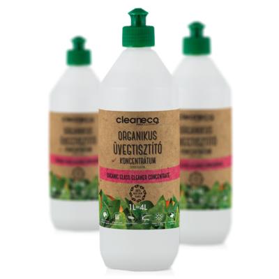 Cleaneco Organikus Üvegtisztító koncentrátum 1L - újrahasznosítható csomagolásban