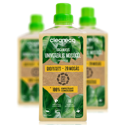 Cleaneco háztartási Organikus Univerzális Mosógél Koncentrátum 1L - komposztálható csomagolásban