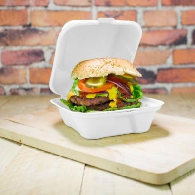 Elviteles doboz, lebomló 15 cm, hamburgeres, cukornád , 500db