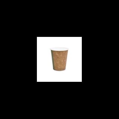 Kávés pohár, 1,8 dl, barna, lebomló   27 Ft/db, 1000db