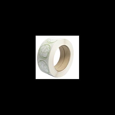 Komposztálható matrica, öntapadós, 4,5 cm | 8 Ft/db, 1000db