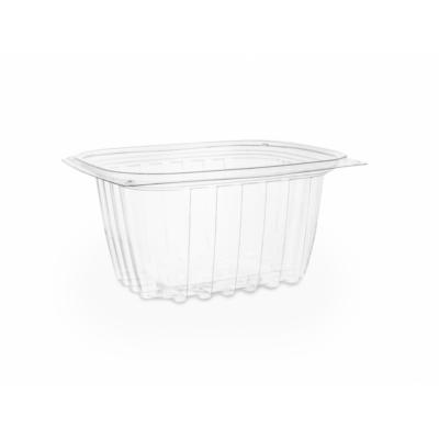 Lebomló ételtároló doboz, PLA, szögletes, 4,5 dl , 450db