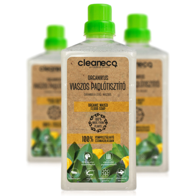 Cleaneco Háztartási Organikus Viaszos Padlótisztító - carambola levél viaszból 1L - komposztálható csomagolásban