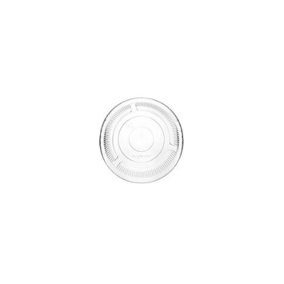 PLA pohár tető, szívószál nyílás nélkül (normál pohárhoz) 96 mm lapos | 21 Ft, 1000db