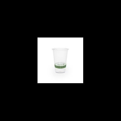 PLA pohár, keskeny, 2,5 dl, lebomló, hideg italokhoz   41 Ft/db, 1000db