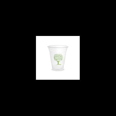 PLA pohár, standard, Green Tree, 3,4 dl, lebomló, hideg italokhoz | 58 Ft/db, 1000db