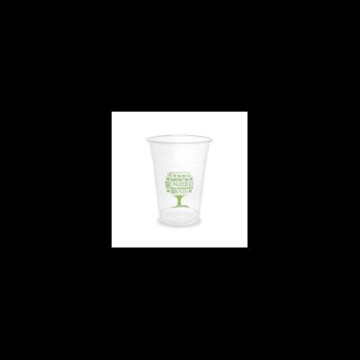 PLA pohár, standard, Green Tree, 4,5 dl, hideg italokhoz   68 Ft/db, 1000db