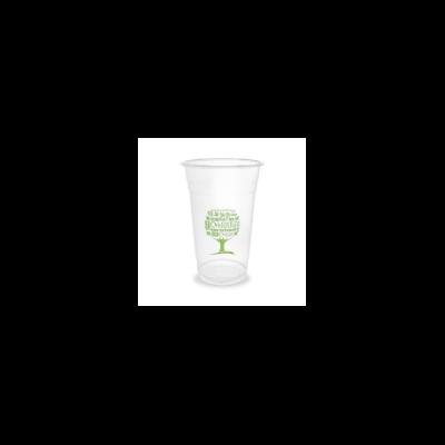 PLA pohár, standard, Green Tree, 5,7 dl, lebomló, hideg italokhoz   75 Ft/db, 1000db