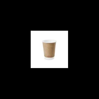 Teás pohár, 3,4 dl, dupla falú, lebomló, barna | 69 Ft/db, 500db