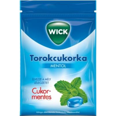 Wick mentolos torokcukorka édesítőszerrel - mentolos 72g