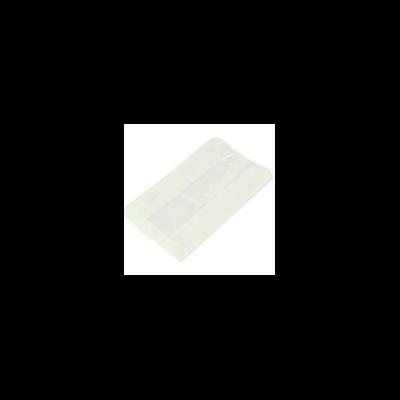 Zacskó meleg ételekhez, Natureflex, fehér, ablakos, lebomló | 34 Ft/db, 500db